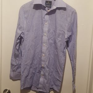 Men Stafford long sleeve button down blue and pink